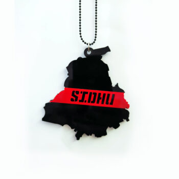 Seepa 'Sidhu on Punjab State Shape' Car Hanging with Double Sided 3D Effect Print for Rear View Mirror Ornament Interior/Exterior Decor Accessories and Wall Hanging Showpiece